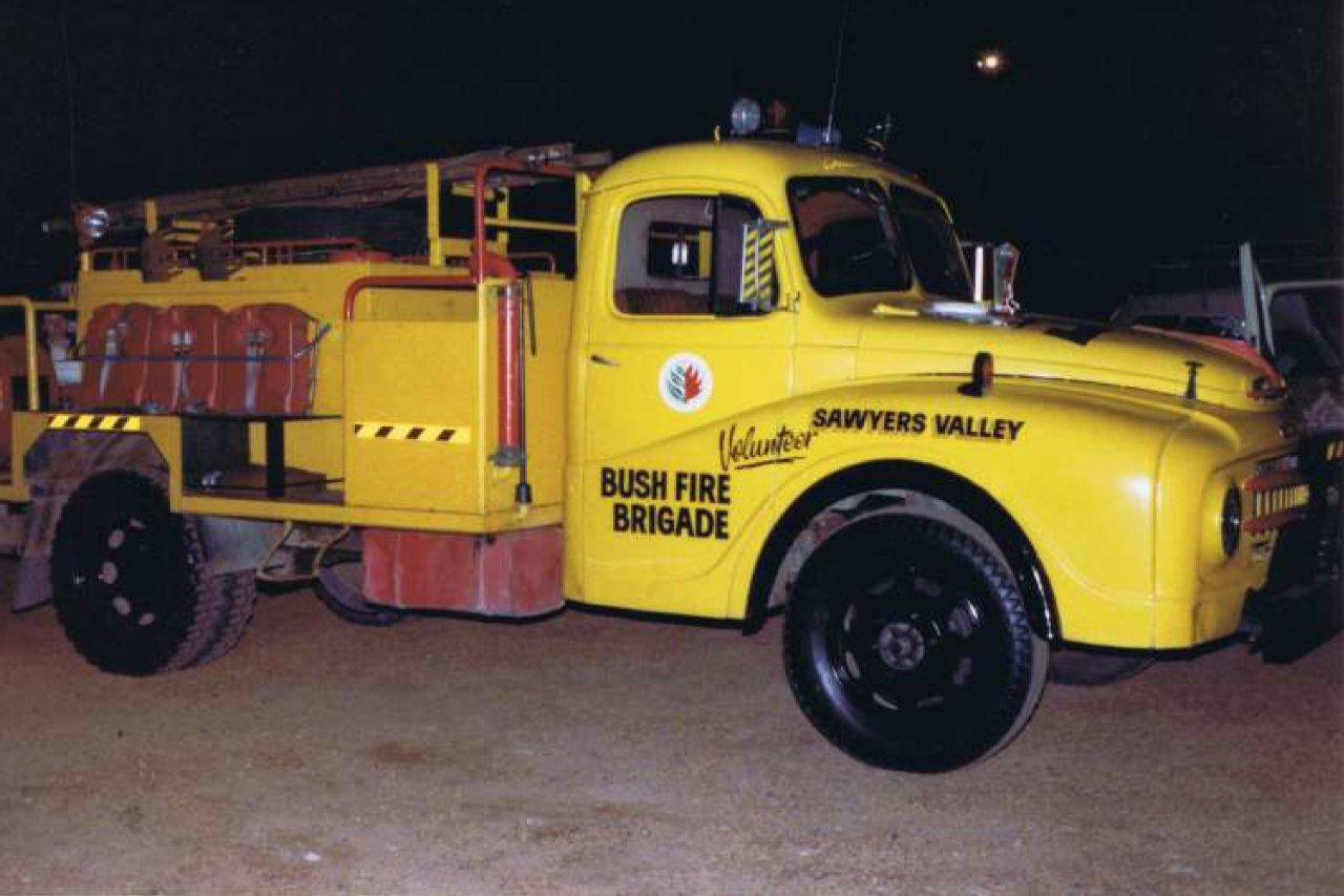 Sawyers Valley fire truck X-Ray Sierra, circa 1982