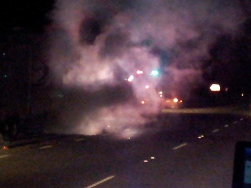 smoky car fire